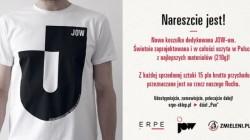 Wrocławska firma ERPE wypuściła nową koszulkę promującą postulat JOW – część środków ze sprzedaży zostanie przekazana naszemu Stowarzyszeniu JOW.